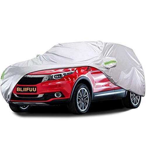 KAKIT Car Cover Waterproof All Weather 2 Layers UV Protection Universal Sedan Car Covers with Free Windproof Ribbon /& Anti-Theft Lock for Full Size Sedan Cars Automobiles Fits 200-229